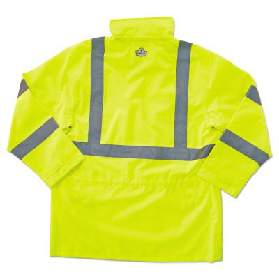 ERGODYNE GloWear® 8365 Class 3 Rain Jacket, Poly, Lime, 3X-Large