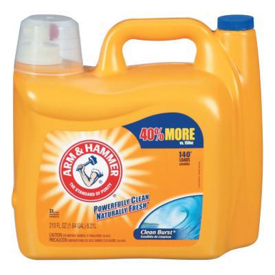 ARM & HAMMER Dual HE Clean-Burst Liquid Laundry Detergent, 210oz Bottle