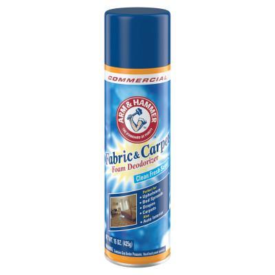 ARM & HAMMER Fabric and Carpet Foam Deodorizer, Fresh Scent, 15 oz Aerosol