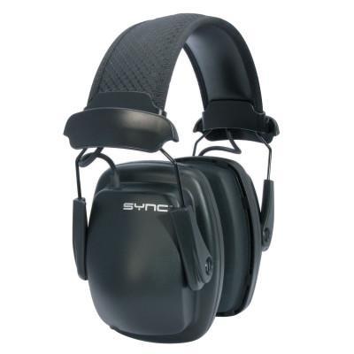 HOWARD LEIGHT BY HONEYWEL Sync Stereo Earmuff, 25 dB NRR, Black, Over the Head