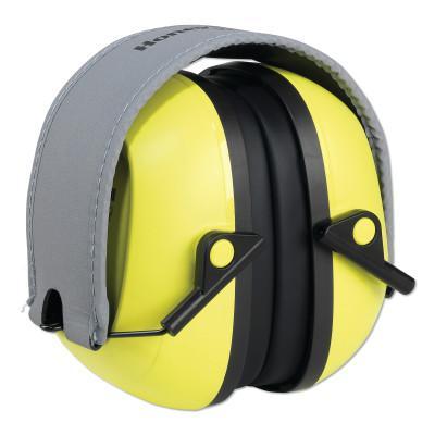 HOWARD LEIGHT BY HONEYWEL VeriShield™ 100 Series Passive Earmuffs, VS120FHV, 27 NRR, Hi -Viz Yellow