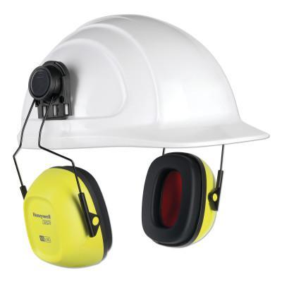 HOWARD LEIGHT BY HONEYWEL VeriShield™ 100 Series Passive Earmuffs, VS130HHV, 27 NRR, Hi-Viz Yellow