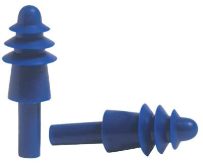 HOWARD LEIGHT BY HONEYWEL AirSoft Reusable Earplugs, TPE, Blue, Uncorded, Impact Case