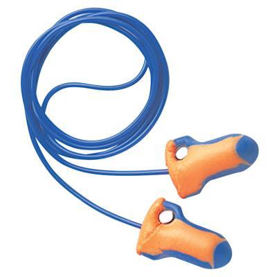 HOWARD LEIGHT BY HONEYWEL Laser Trak Detectable Earplugs, Foam, Blue/Orange, Corded