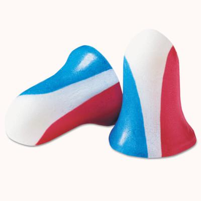 HOWARD LEIGHT BY HONEYWEL Max Disposable Earplugs, Foam, Blue/Red/White, Uncorded