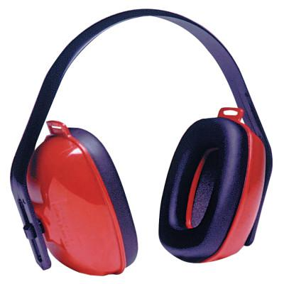 HOWARD LEIGHT BY HONEYWEL QM24+ Earmuffs, 25 dB NRR, Red, Over the Head