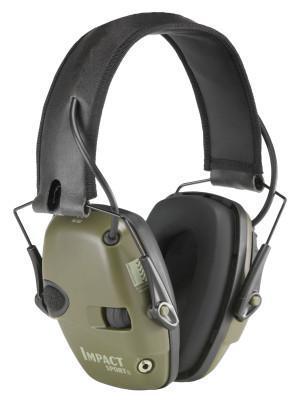 HOWARD LEIGHT BY HONEYWEL Impact Sport Earmuffs, 22 dB NRR, Khaki