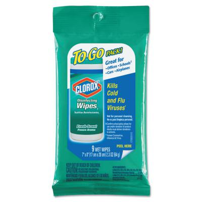 CLOROX Disinfecting Wipes To Go, 7 x 8, Fresh Scent
