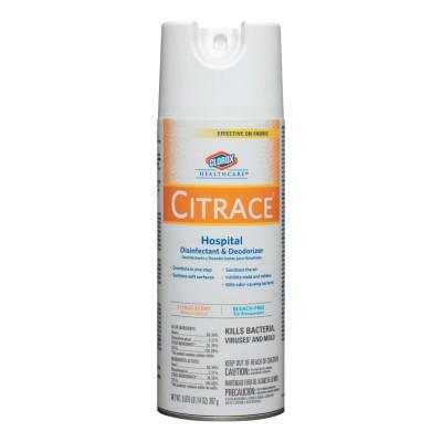 CLOROX Citrace Hospital Disinfectant & Deodorizer, Citrus, 14oz Aerosol