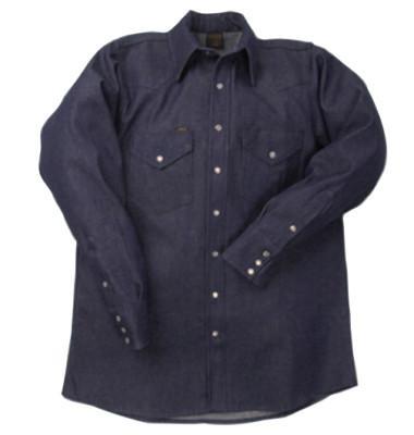 LAPCO 1000 Blue Denim Shirts, Denim, 14-1/2 Long