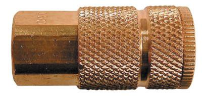 COILHOSE PNEUMATICS Coilhose Pneumatics Coilflow™ ARO Interchange Series Coupler, 1/4 in (NPT) F, Brass