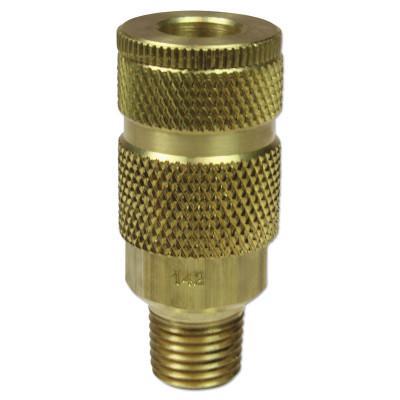 COILHOSE PNEUMATICS Coilflow ARO Interchange Series Couplers, 3/8 in (NPT) M, Brass