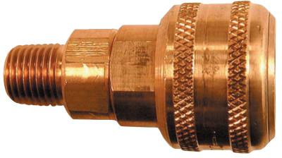 COILHOSE PNEUMATICS Coilflow Automatic Industrial Interchange Couplers, 1/4 in (NPT) M