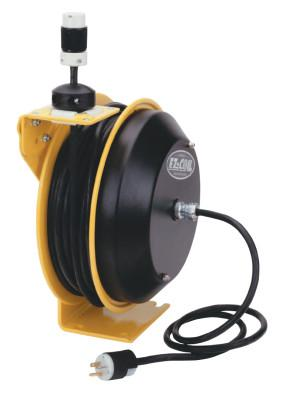 COXREELS EZ-Coil Power Cord Reels, 16/3 AWG, 20 A, 50 ft