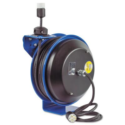 COXREELS EZ-Coil Power Cord Reels, 12/3 AWG, 20 A, 50 ft