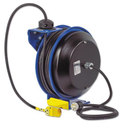 COXREELS PC13 Series Power Cord Reels, 12/3 AWG, 20 A, Quad Industrial Receptacle
