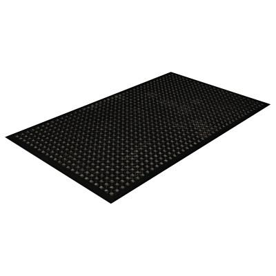 CROWN Safewalk-Light Drainage Safety Mat, Rubber, 36 x 60, Black