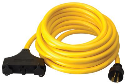 SOUTHWIRE Generator Extension Cord, 25 ft, 3 Outlets, 20 Amp