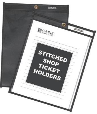 C-LINE PRODUCTS INC. SHOP TICKET HOLDERS CLEAR- 8½ X 11