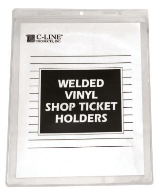 C-LINE PRODUCTS INC. SHOP TICKET HOLDERS- WELDED VINYL 9 X 12