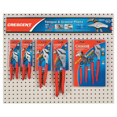 CRESCENT Tongue And Groove Pliers Displays, 16 Pieces