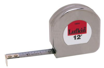 LUFKIN Mezurall® Pocket Measuring Tapes, 1/2 in x 12 ft, 1/10 in Grad.