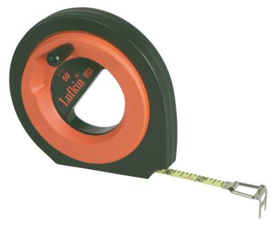 LUFKIN Hi-Viz Speedwinder Measuring Tapes, 3/8 in x 100 ft, 1/10 in Grad.