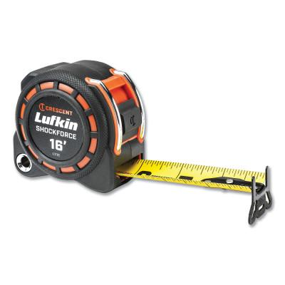 """LUFKIN Shockforce Tape Measure, 16'x1-3/16"""""""