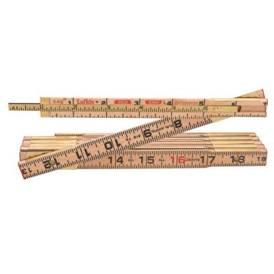 LUFKIN Red End Extension Rulers, 6 ft, Wood, 1 Scale