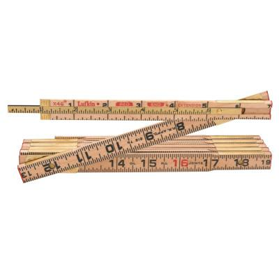 LUFKIN Red End Extension Rulers, 8 ft, Wood, 1 Scale