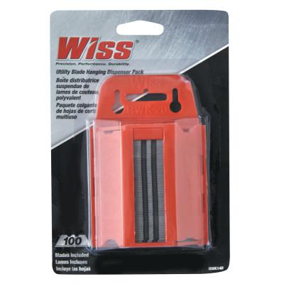 """WISS Replacement Utility Knife Blades, 4 1/2"""", Steel"""