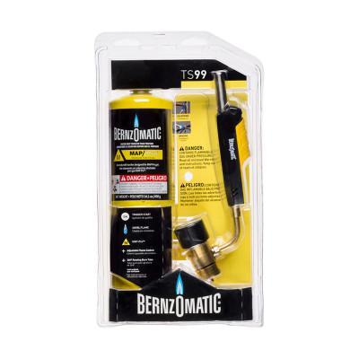 BERNZOMATIC Trigger Start Swivel Head Torch, Brazing; Heat Treating; Large Diameter Soldering, Propane; Map-Pro