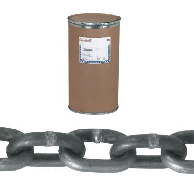 CAMPBELL System 3 Proof Coil Chains, Size 1/4 in, 1,300 lb Limit, Galvanized