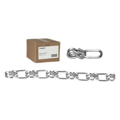 CAMPBELL Lock Link Single Loop Chains, Size 5/0, 580 lb Limit, Blu-Krome