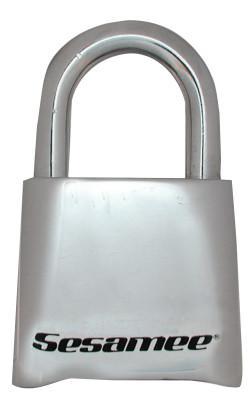 CCL Sesamee  Keyless Padlocks, 5/16 in Diam., 1 in L X 1 in W, Chrome