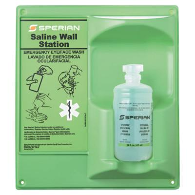 HONEYWELL Eyesaline Wall Station, 16 oz, Single Bottle