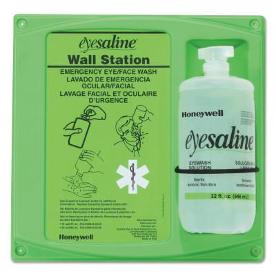HONEYWELL Eyesaline Wall Station, 32 oz, Single Bottle