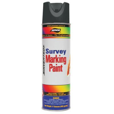 AERVOE Survey Marking Paint, 17 oz Aerosol Can, Black