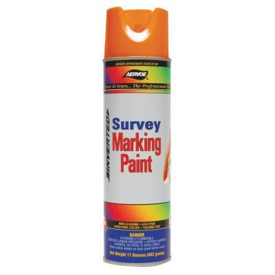 CROWN Survey Marking Paint, 17 oz Aerosol Can, Fluorescent Orange