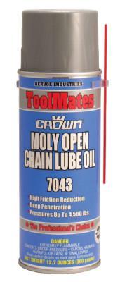 CROWN Moly/Oil Open Chain Lube, 16 oz, Aerosol Can