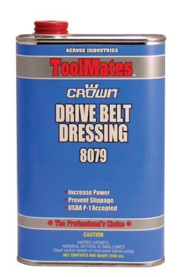 CROWN Drive Belt Dressings, 1 qt Can