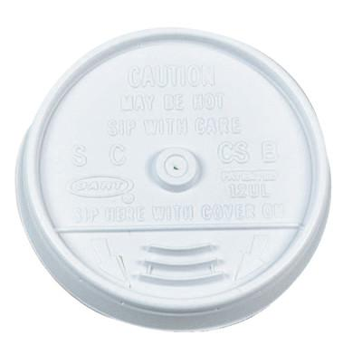 DART Sip-Thru Lids, Use With 10J10, White, 1,000 per case