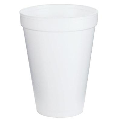 DART Foam Cups, 12 oz, White
