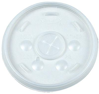 DART Straw-Slotted Lids, Use With 12J12, Translucent, 1,000 per case