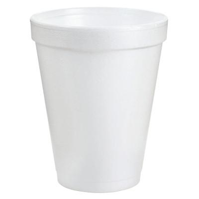 DART Foam Cups, 8 oz, White