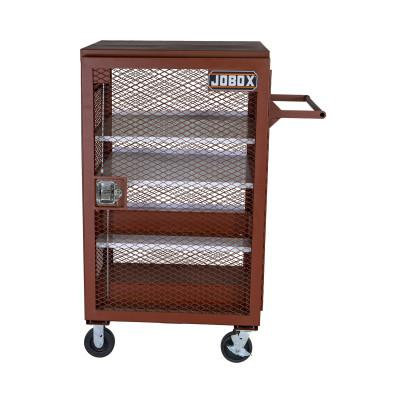 JOBOX Mesh Cabinets, 33 in x 33 in x 51.25 in, 2 Door, 1000 lb Cap., Brown