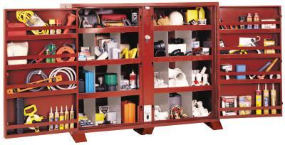 JOBOX Extra Heavy-Duty Bin Cabinets, 72W x 24D x 61H, 2 Doors