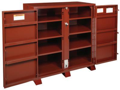 JOBOX Extra Heavy-Duty Cabinets, 60 1/8W x 24 1/4D x 60 3/4H, 2 Doors, 11 Shelves