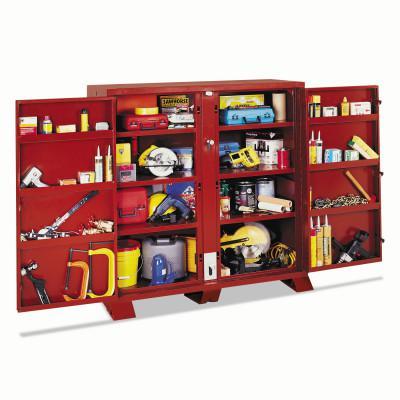 JOBOX Extra Heavy-Duty Cabinets, 60 1/8W x 32 1/4D x 60 3/4H, 4 Doors