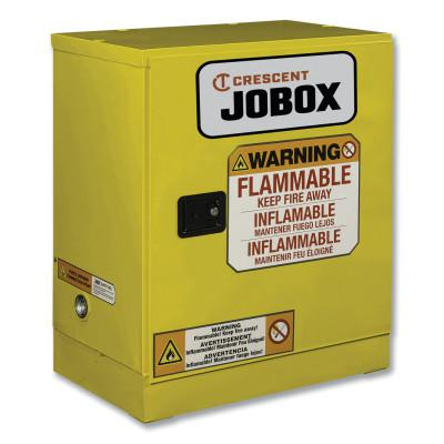 JOBOX 12 Gallon Flammable Manual Close Safety Cabinet - Yellow